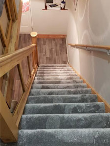 Rugby hall stair landing carpet